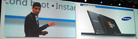 グーグル、クラウド尽くしの「クロームブック」発表 PCの新たな利用法を提案へ
